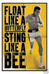 Muhammad-Ali-Float-Like-A-Butterfly-POSTER-61x91cm-NEW-Sting-Bee-boxing-champ