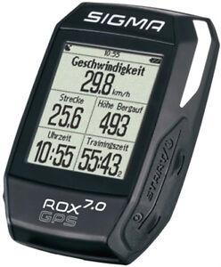 Sigma-Sport-Computer-ROX-7-0-GPS-BLACK-Schwarz-Kabellos-Bike-Fahrrad
