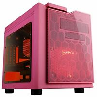 Apevia X-qpack3-pk Micro Atx Cube Pc Gaming/htpc Case, Pink