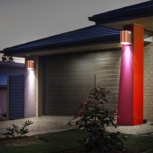 Smart RGB LED Außen Down Wand Leuchte Google Alexa Garten Strahler Lampe dimmbar