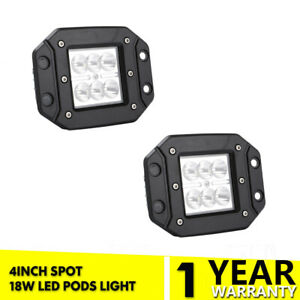 """3/""""inch Cube Pods LED Spot Work Light Bar Offroad Fit For Chevy Silverado//GMC 4/"""""""
