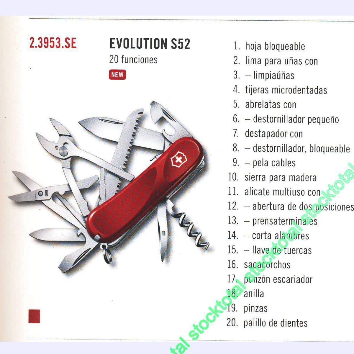 NAVAJA VICTORINOX EVOLUTION S52  23953SE 20 FUNCIONES