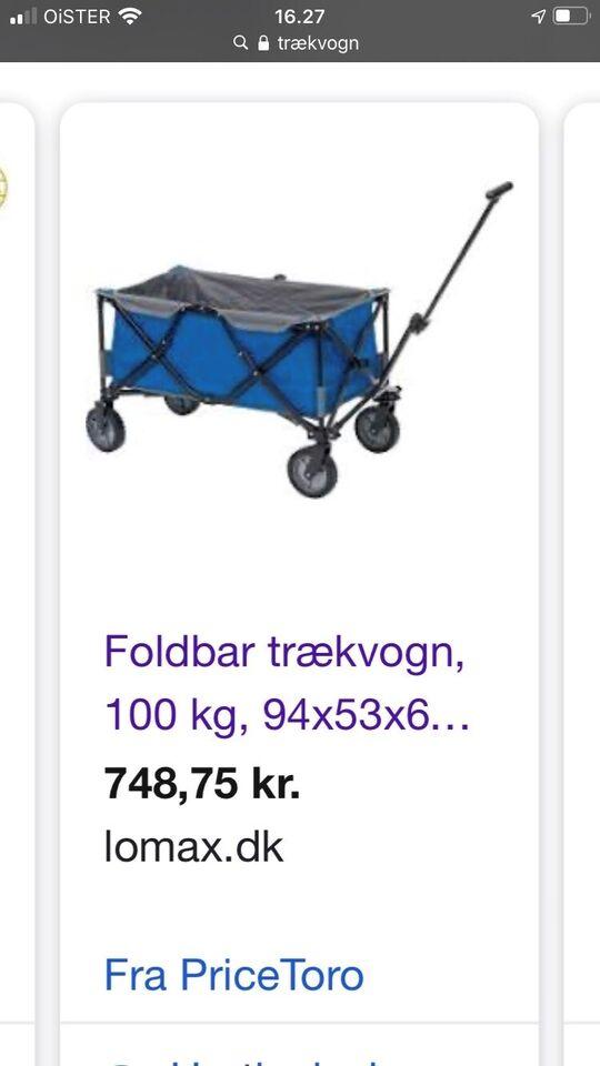 Foldbar trækvogn