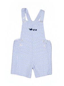 Boy-Blue-Seersucker-Thomas-Brown-Whale-Shortall-Jon-John-Romper-Size-18-24-Month