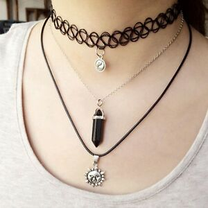 3pcs-New-Women-Lady-Choker-Style-Punk-Set-Layer-Gothic-Chain-Vintage-Necklace