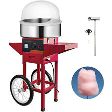 Vevor Commercial Cotton Candy Machine Floss Maker With Cart Cover Red