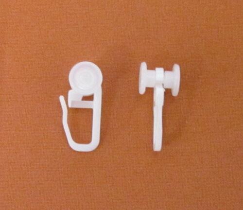 U-Rollringe 10mm Gardinenröllchen Faltenhaken Faltengleiter Gardinenzubehör