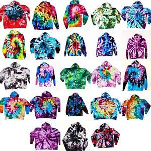 Tie-Dye-Hoodie-Pullover-Pocket-Tye-Die-S-M-L-XL-2XL-3XL-Hanes-Soft-Cotton-90