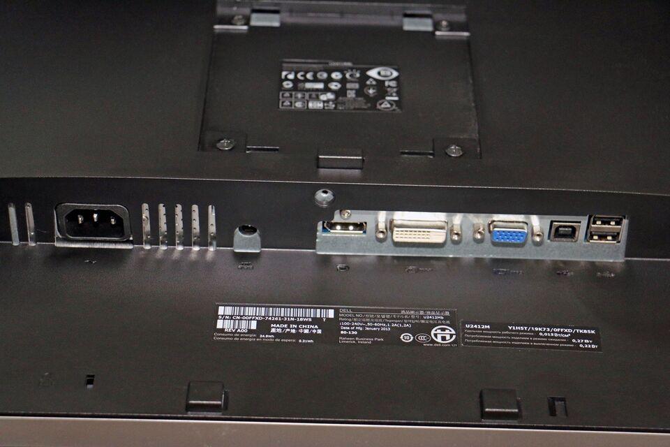 Dell, fladskærm, UltraSharp U2412m