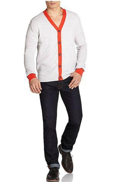 NWT  Robert Graham Mens Cotton & Cashmere Cardigan Size M