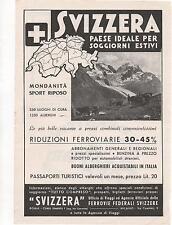 Pubblicità vintage SVIZZERA TURISMO VACANZA advert reklame werbung publicitè