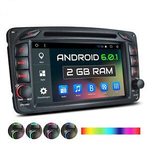 AUTORADIO-MIT-ANDROID-6-DVD-GPS-NAVI-PASSEND-FUR-MERCEDES-VITO-W203-W168-C209