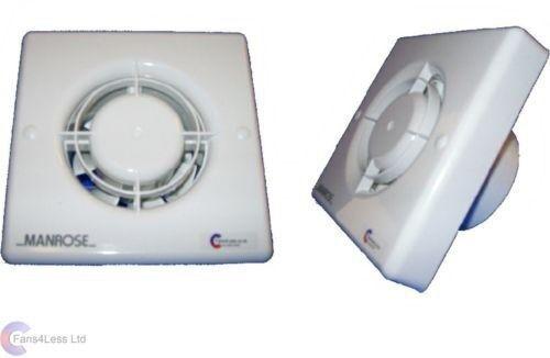 Manrose XF100T Badezimmer Entlüfter Ventilator mit Timer 10cm ...