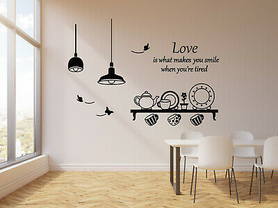 Vinyl Wall Decal Quote Kitchen Utensils Dining Room Butterfly Stickers G1354 Ebay