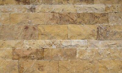 Fassade Heimwerker Motiviert Wandverkleidung Wandverblender Steinwand Travertin Gold 3d Wohnrausch 1m²