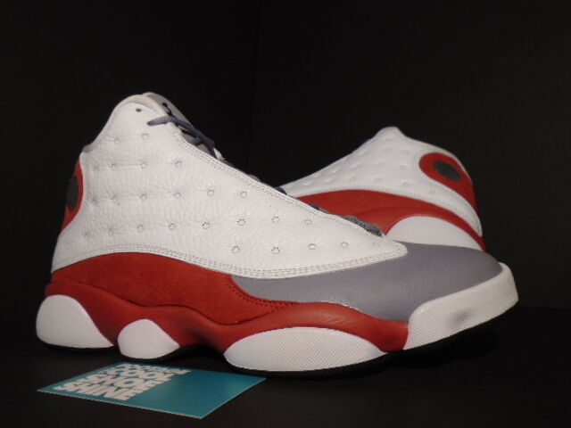 quality design 33f02 ee01d Nike Air Jordan Jordan Jordan XIII 13 Retro WHITE BLACK CEMENT GREY TOE RED  414571-
