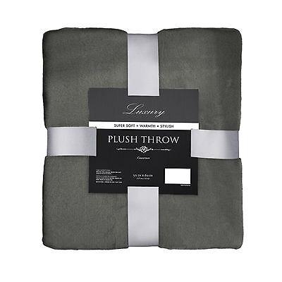 Plush Throw Blanket: Super Soft, Warm, 50in x 60in