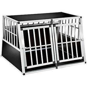 XXL-Cage-box-caisse-trapezoidal-de-transport-voyage-pour-chien-mobile-aluminium