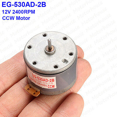 Mabuchi EG-530AD-2F DC 12V CW Audio Motor for Tape Deck GangspilMotor Audiomotor