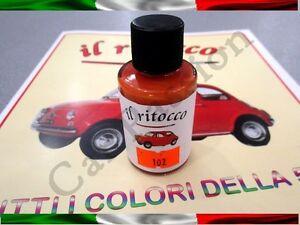 VERNICE-RITOCCO-SMALTO-FIAT-500-CINQUECENTO-D-039-EPOCA-ROSSO-CORALLO-COD-102-30ml