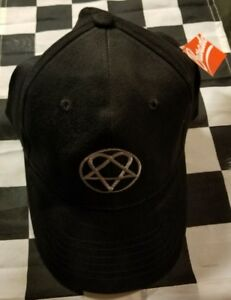 b4db367d6f9 HIM H.I.M. Heartagram Black Cap New Official BRAVADO Rock Band Hat ...