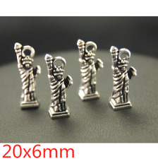 3//10//50pcs Antique Silver Exquisite Hand of Lucky Charms Pendant Craft 42x28mm