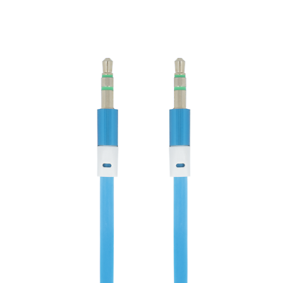 Audiokabel & Adapter 1m Aux Kabel Stereo 3,5mm Klinke Audio Klinkenkabel Für Iphone Handy Auto Blau Feine Verarbeitung