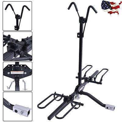 "2 Bike Carrier Platform Hitch Rack Bicycle Rider Mount Sport Fold 2"" Receiver"