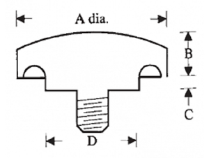 1//2-13 4-Prong Hand Nut 2-1//4 hd Phenolic Plastic Knob Fastener E19010