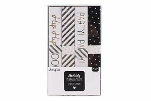 Black and White Birthday Party Paper Chains Party Decoration