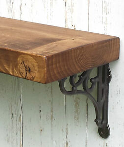 Chunky Solid Wood Rustic Floating Mantel Shelf 5 75 X1 5 Wall