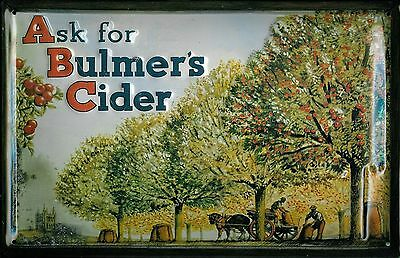 Bulmers Cider Drink Bar Pub Vintage Advertising Medium 3D Metal Embossed Sign