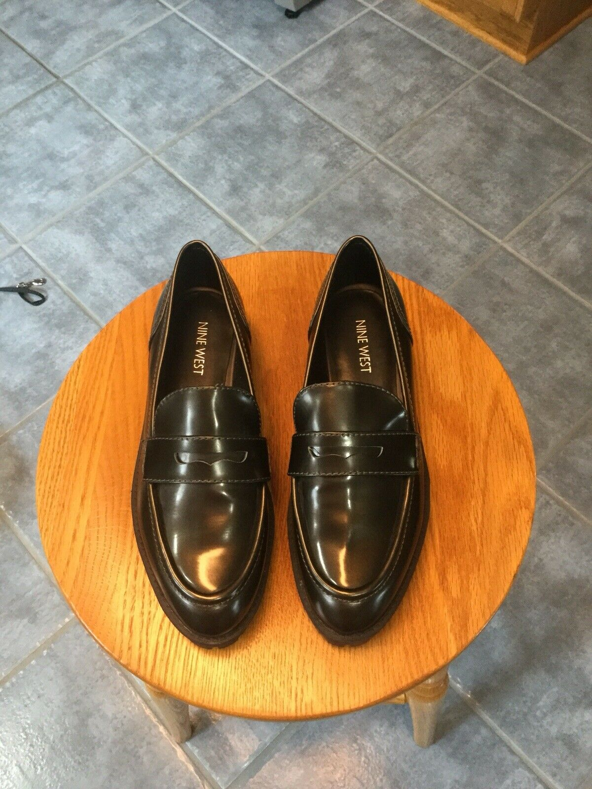"""Women's Nine West """"James"""" Leather Loafers. Size 7.5. NEW"""
