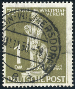 BERLIN, MiNr. 40 I, guter Plattenfehler, gestempelt, Befund Schlegel, Mi. 450,-