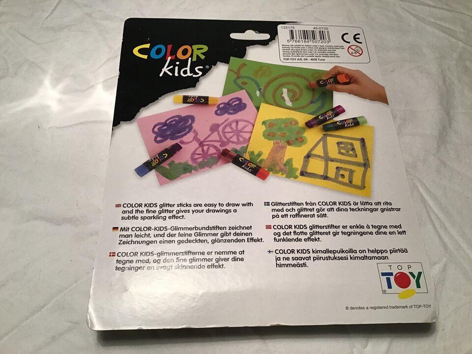 Tegne/male, Color kids glimmerstifter