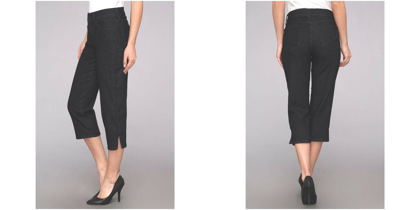 NYDJ Not Your Daughter Jeans Hayden crop capri pants dark bluee enzyme 4 6 8 new