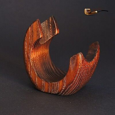 HAND CARVED  WOODEN  STAND / RACK / HOLDER for 1 Tobacco Smoking Pipe