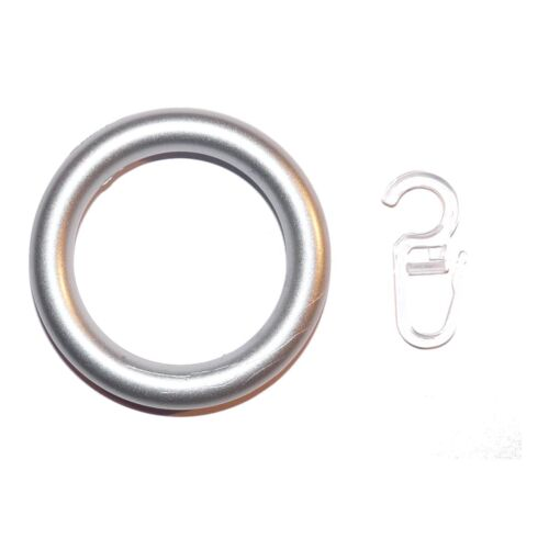 10 Gardinenringe Kunststoff Chrom matt für 28 mm Stangen Art. R2802