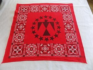 Red-Bandana-Eagle-Inside-Circle-of-Stars-RN-14193-19-5x20-Doo-Rag-Handkerchief