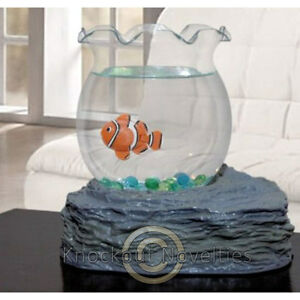 Fish Bowl Toy Realistic Swimming Swim Fish Desk Pet Swims Tabletop Fishbowl Gift
