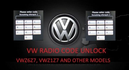 RNS510 unlock code RNS 510 Unlock Decode Service Radio Unlock PIN