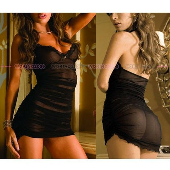 Brand New Sexy Women LingerieUnderwear Babydoll Dress G-string Sleepwear 217