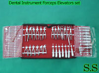 Dental Instrument Extraction Pedo Adult Forceps Elevators Tool Set Of 55pcs Ce