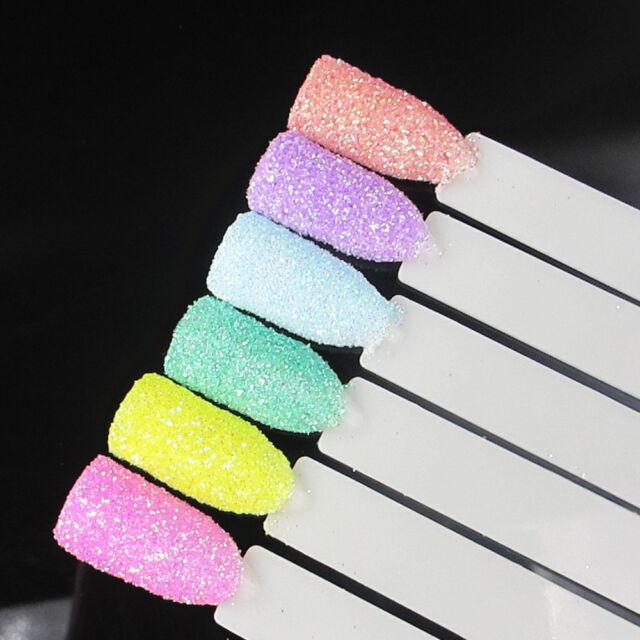 6 Mix Color Set Nail Art Glitter Powder Dust For UV GEL Acrylic Decoration Tips