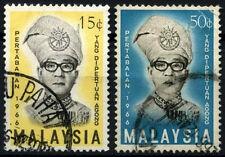 Malaysia 1966 SG#33-4 Yang Di-Pertuan Agong Used Set #D46625