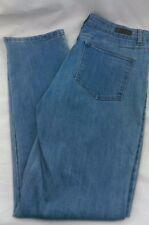 Clothes:Woman's Lee Jeans 34Wx32.5L Light Blue Denim Stretch Soft Classic Fit