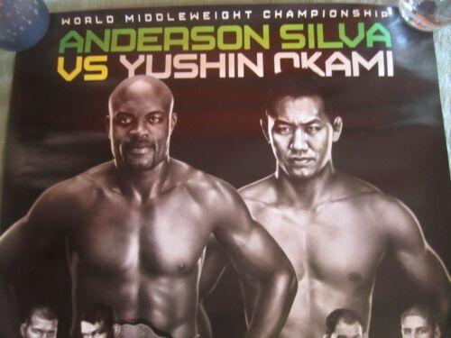 UFC RIO  18 X 24  POSTER  SILVA VS OKAMI  AVA GRIFFIN NOGUEIRA SCHAUB MMA  L@@K