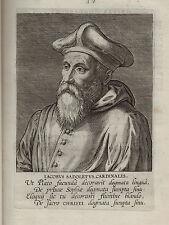 x RARE - 1598 Book - Galle : Effigies - 12 Cardinals w Exquisite Engraved Prints