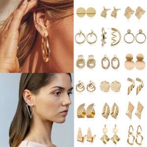 Women-Jewelry-Large-Circle-Geometry-Metal-Fashion-Ear-Studs-Drop-Dangle-Earrings