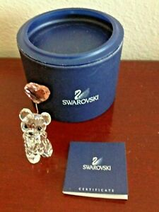SWAROVSKI-KRIS-BEAR-I-LOVE-YOU-W-HEART-BALLOON-CRYSTAL-FIGURINE-NEW-OLD-STOCK